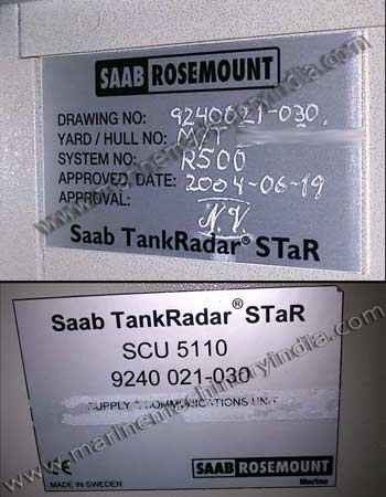 Saab Rosemount TankRadar STaR used marine tank level gauging system