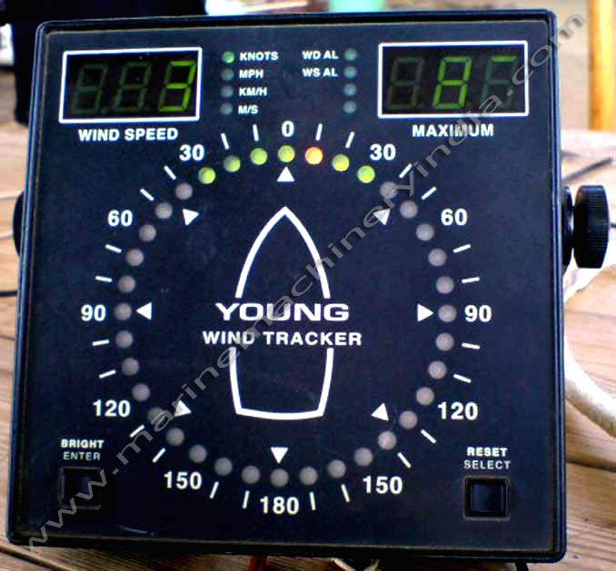 RM Young Used Marine Wind Tracker Display Model 06206
