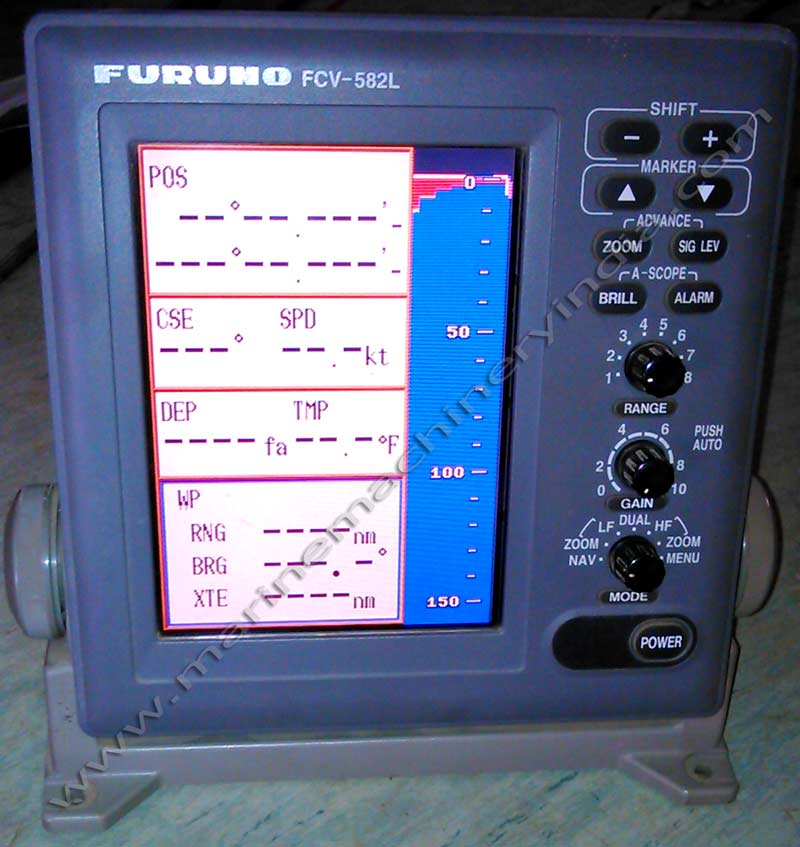 Used Fishfinder Furuno FCV 582L for your ship, boat, vessel