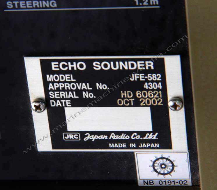 jrc jfe 582 echo sounder / depth finder, imo type approved, Fish Finder